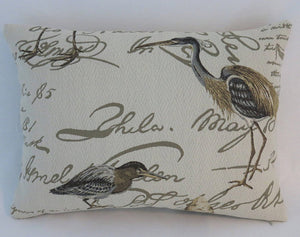 shorebird lumbar pillow