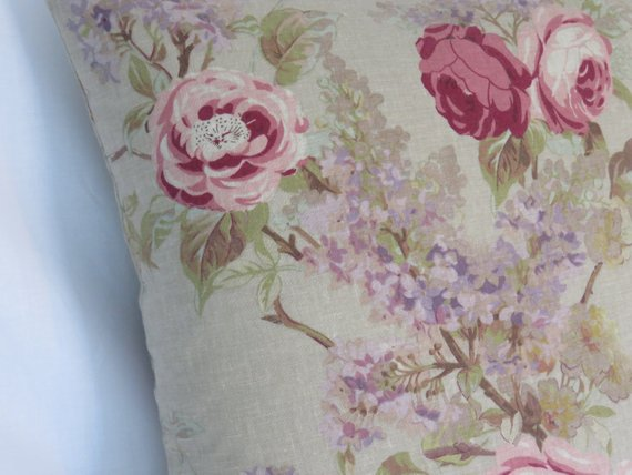 roses and lilacs pillow