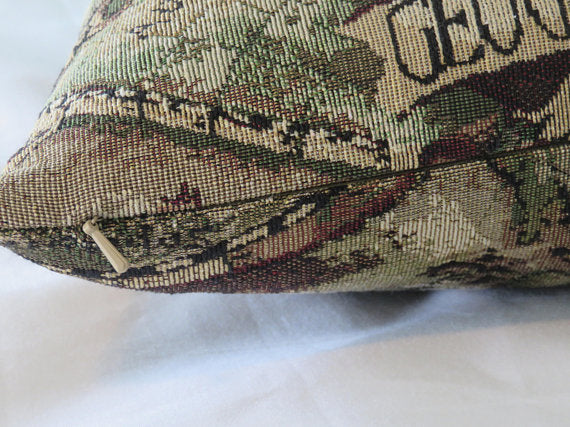vintage map pillow cover