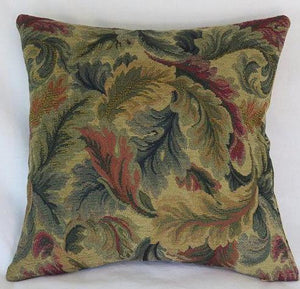 verdure leaves chenille pillow