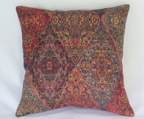 colorful medallion tapestry pillow