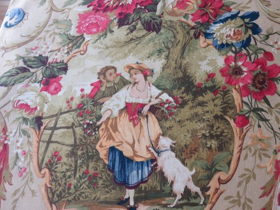 Richloom Fragonard Tan Pillow Cover Discontinued Cameo Toile