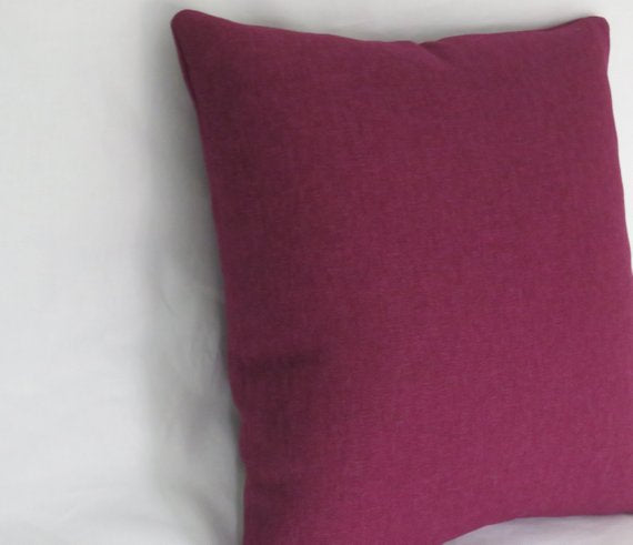 plum purple woven pillow