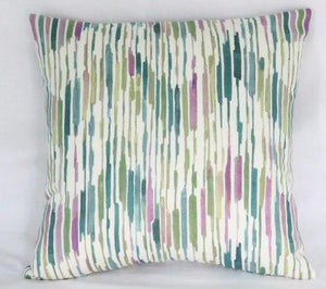 teal and purple zigzag pillow Kelly Ripa fabric