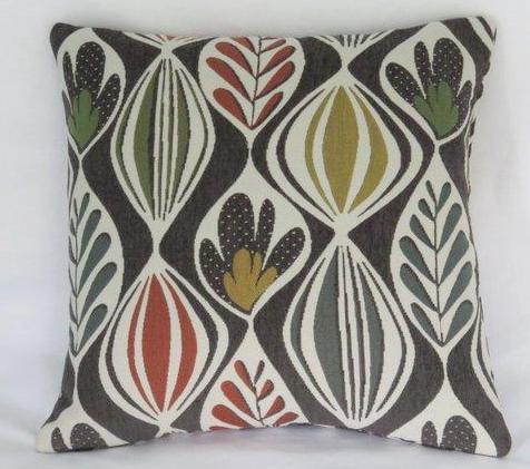 Mid Century Mod Leaf Pillow