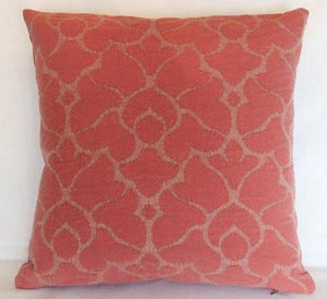 salmon pink matelasse pillow