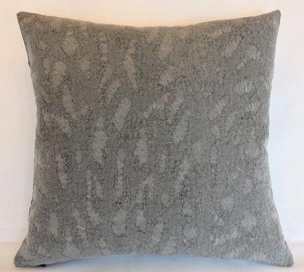 grey abstract matelasse pillow