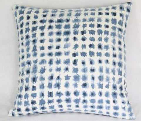 Indigo Blue Watercolor Dot Pillow