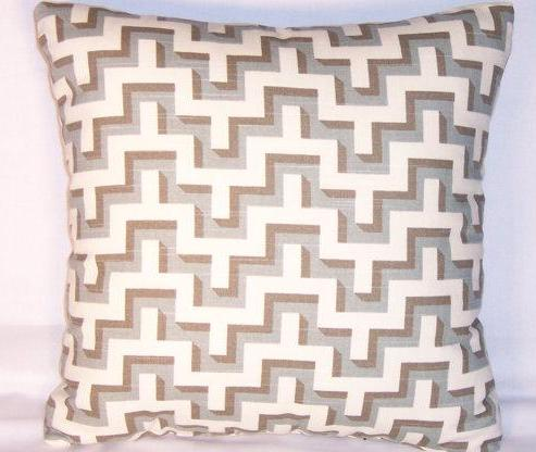 grey hgtv maze pillow