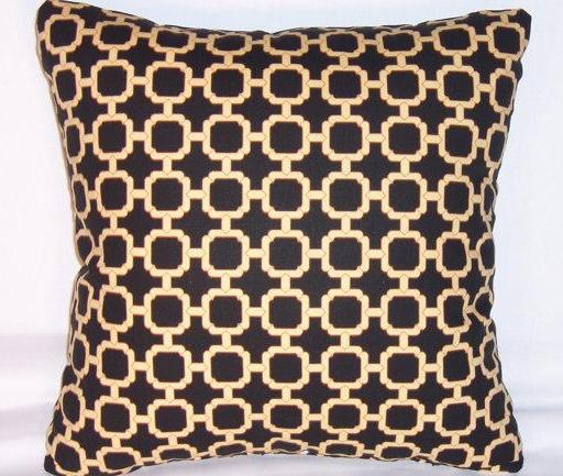 black chain link pillow