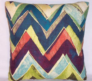color field zig zag pillow