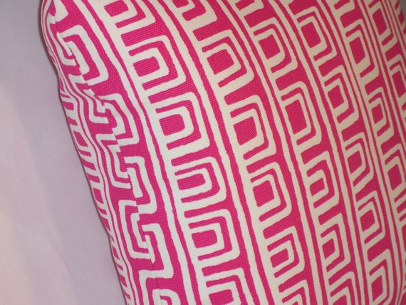 hot pink kaufmann pillow