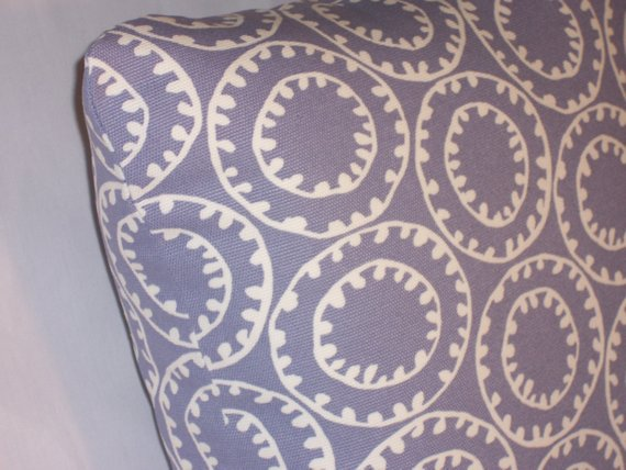 lavender geometric pillow