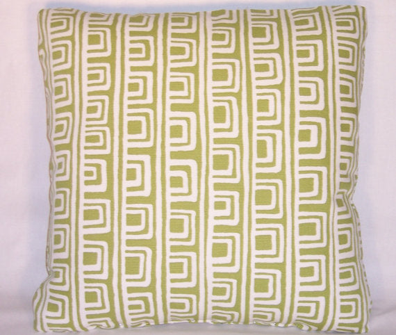 green on the square pillow