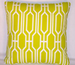 Acid Green Lattice PIllow