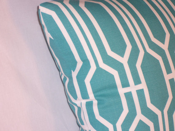 aqua harland lattice pillow