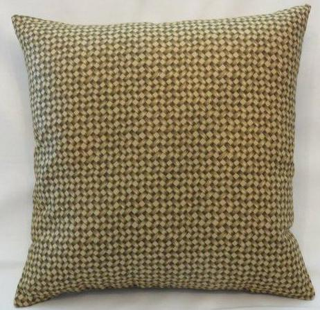 rattan print cotton pillow