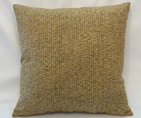 wicker basket print pillow cover