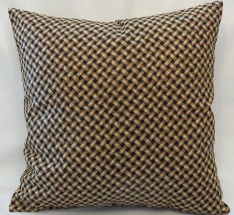 Basket weave print pillow