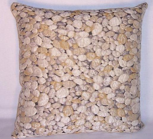 rock pebble pillow