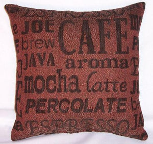 coffee barrista words pillow