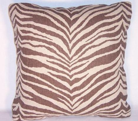 brown zebra stripe pillow