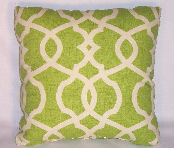 lime green lattice pillow