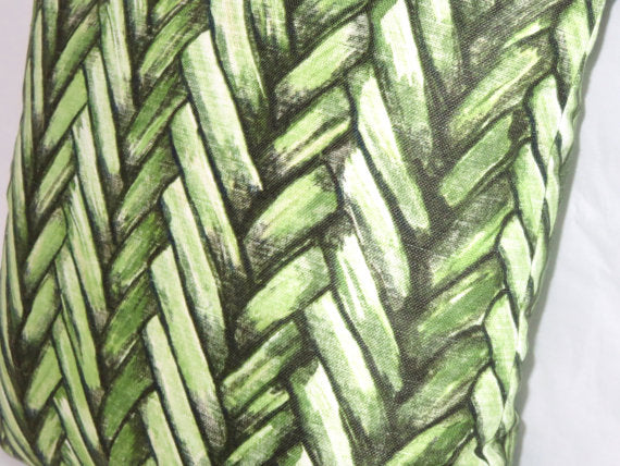 Green Thatch Pillow Cover