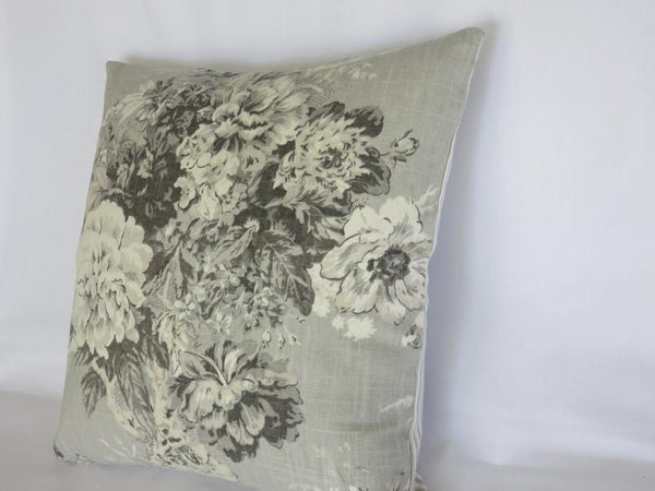 waverly ballad bouquet platinum pillow cover