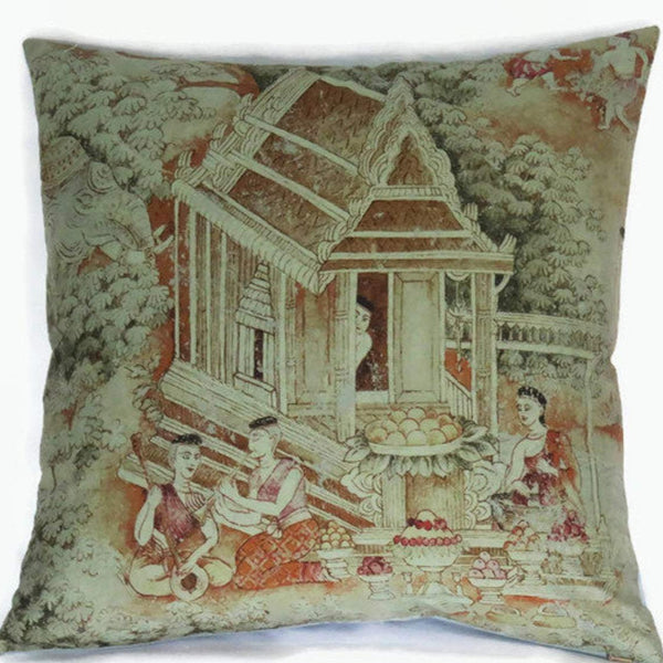 jims dream thai silk pillow cover