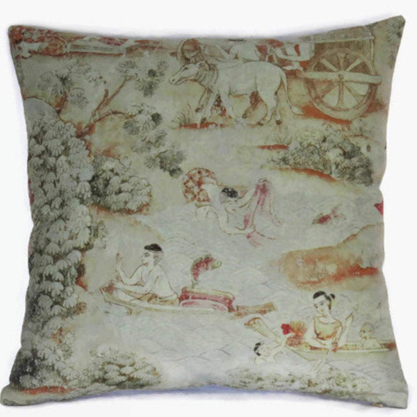jims dream river scene pillow cover