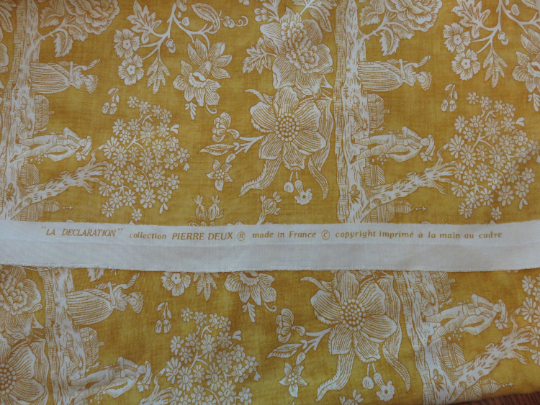 Gold French Toile Pillow Cover - La Declaration Pierre Deux