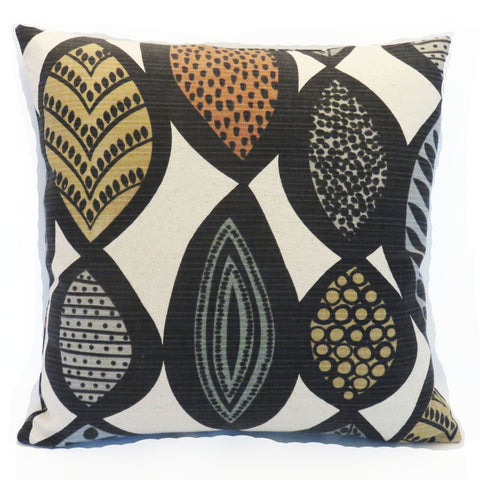 mi century mod leaf print pillow cover