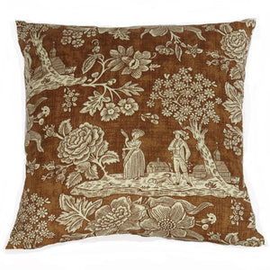 brown toile pillow pierre deux la declaration