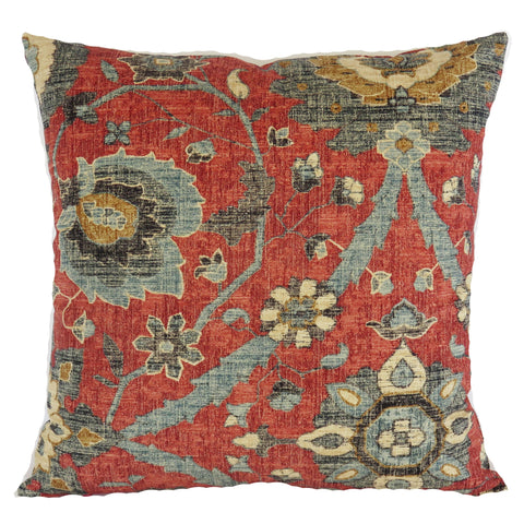 red and denim blue pillow cover turkish delight