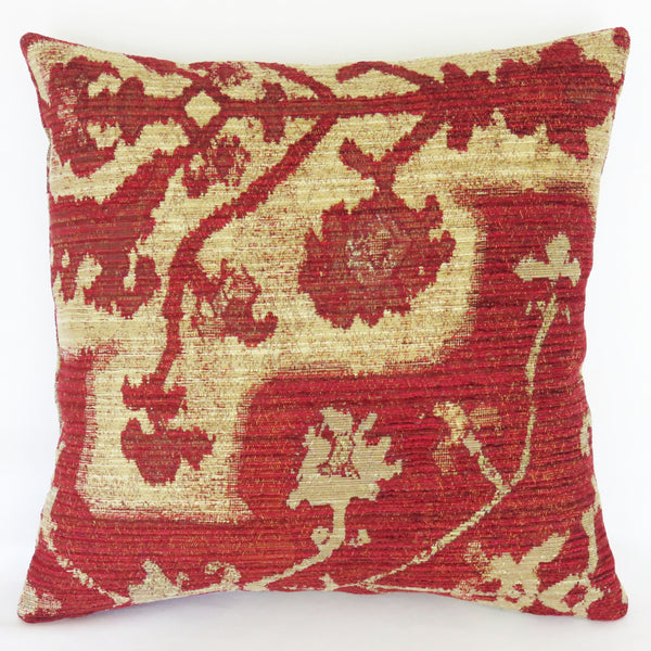 red tan kilim style pillow