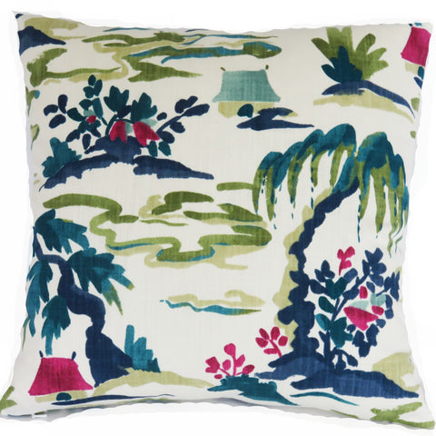 Baltic Pagoda Pillow Cover Robert Allen Fabric
