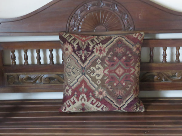 southwest pillow cover in rust and brown tones