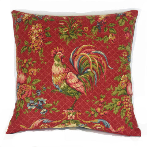 Saison de Printemps Rouge Red Chicken Toile Pillow Cover