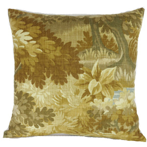 golden verdure pillow cover scenic flora