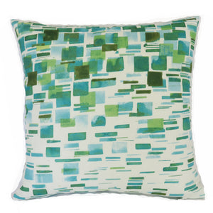 sea glass tile print pillow cover