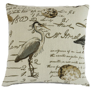 birdsong seamist pillow cover shorebirds