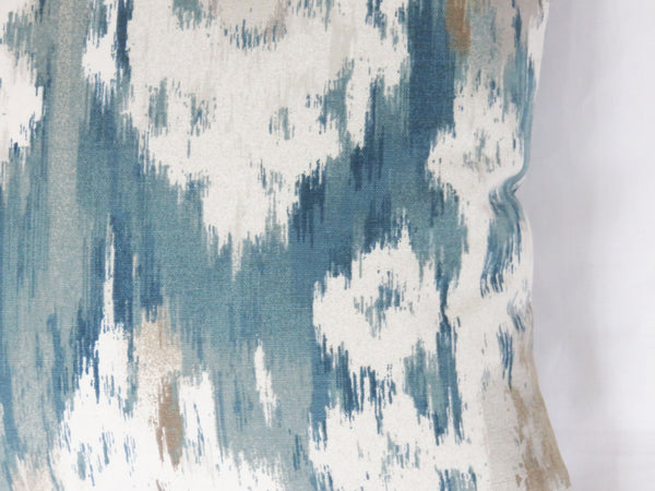 Teal Ikat Pillow Cover, Robert Allen Reflect Aegean Print