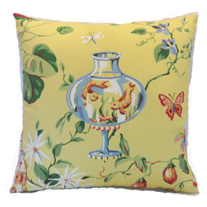 yellow goldfish pillow cover, Thibaut Fish Bowl