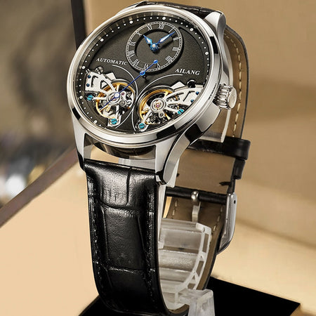 AILANG Brand Automatic mechanical Leatehr Waterproof Steampunk Watch - AmazingBaba