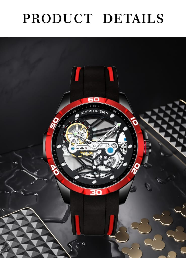 AIMIMO DESIGN Silicon Mechanical Wristwatch Automatic