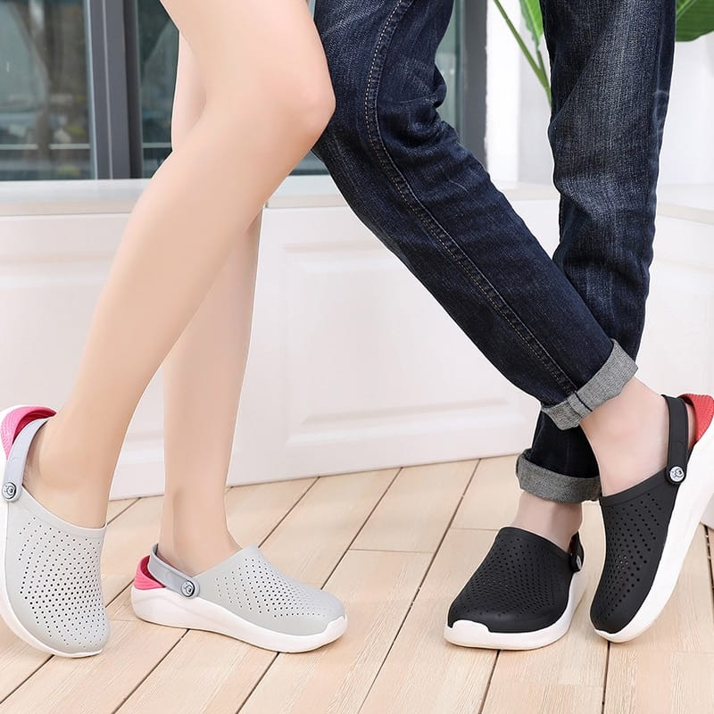 Summer Hole Shoes Rubber Clogs Beach Flat Sandals Slippers