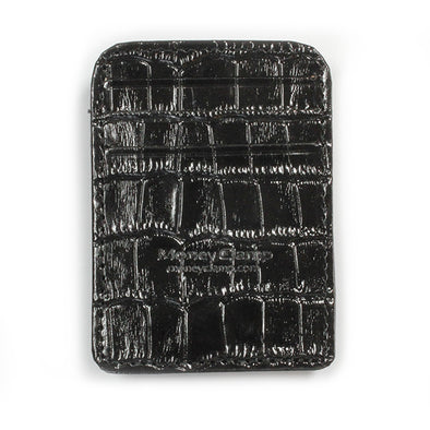 Congo Crocodile Black Leather RFID Wallet