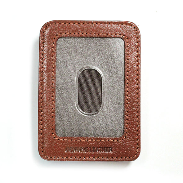 Brown Leather Wallet with ID Window