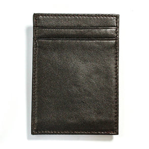 Cabretta Brown Leather Wallet with Extra Capacity